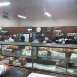 View of showcase inside Bakery