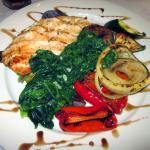Chicken Griglia w/ sauteed spinach & grilled vegetables