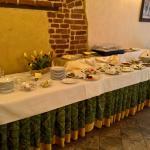 Śniadaniowy, szwedzki stół