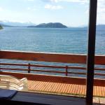 vista desde el living de mi habitacion al Lago Nahuel Huapi
