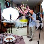 Set fotografico per la presentazione dei nuovi piatti