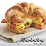 Spinach Bacon egg croissant