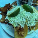 Famous Baja fish tacos & chips $7.99 lunch specials