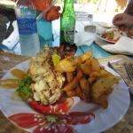 Lobster and potato wedges