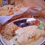 This is my Favorite dish here!!!! It's Seafood Enchiladas!!!!!!!!