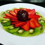 Carpaccio kiwi et fraises