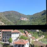 Looking up to Castel Vitorio from Pigna