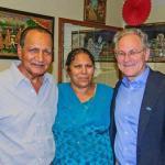 Our Mayor enjoying Tucson's finest Indian Food