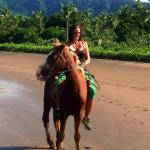 Horse riding on the beach and jungle