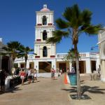 Playa Estrella, small fake village/ market