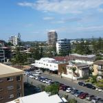 View from rear of apartment in main bedroom out to local shops and Tweed River.