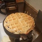 Breakfast area   waffle maker