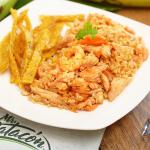 arroz camaron pollo