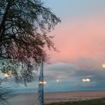 Abendstimmung - Blick vom Restaurant auf den Strand