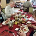 Guests having breakfast