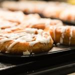 Our delicious signature cinnamon buns are served daily