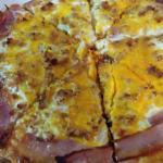pizza pollo con huevo