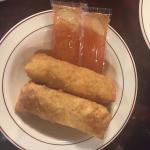 Egg rolls & saunce