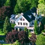 Lakewinds from above, across from North America's oldest golf course on a fully landscaped prope