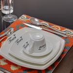 Branded cutlery and crockery