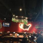 Bar area - bottle chandelier