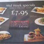 Bodkin mid week specials