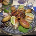 Lovely food, King Prawns, followed by Pangasius  Fish.