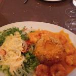 scampi's & griekse rijst