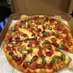 Pepperoni Magnifico - two kinds of pepperoni. I add onion and green pepper (optional).