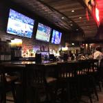 Not really a sports bar, but plenty of big flat screens to catch all the action.