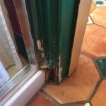 The rotten door frame!