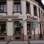 Restaurant vu de la rue.