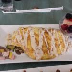 My friends omelet. Yummy