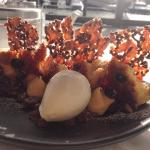 Dolci: Cassata $19.00 (Buffalo ricotta cake, orange Grand Marnier custard, almond and cocoa nib