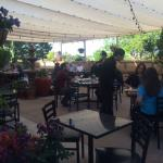 Outdoor patio with live music