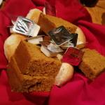 Rolls and pumpkin bread.
