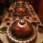 Our amazing dinner at Riad Monika  The food is outstanding