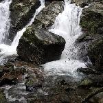 Natural water flow in the resort