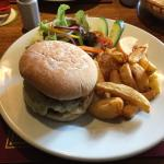 Lamb burger and Honey and Parsnip soup
