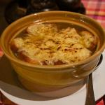 Onion soup - a very nice treat