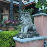 One of many beautiful statues on the grounds of Casa Tres Leones