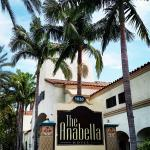 The Anabella Hotel entrance. Off W. Katella Ave.