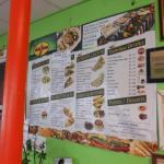 Their extensive menu