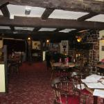 Restaurant and breakfast room, lots of breams and a huge log burner in the fireplace,