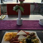 A delicious Turkish breakfast - with a fabulous view!