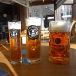 Three sizes of beer