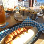 Munich style sausage and sauce