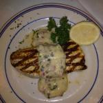 Grilled Swordfish w/ Red Onion, Caper Vinaigrette Sauce