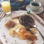 tipico breakfast (do try the green sauce!)
