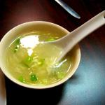 Egg drop soup. Good but not great.